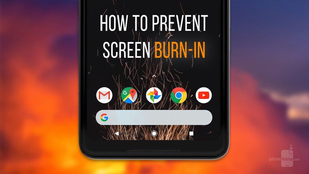 come prevenire il burn-in display oled
