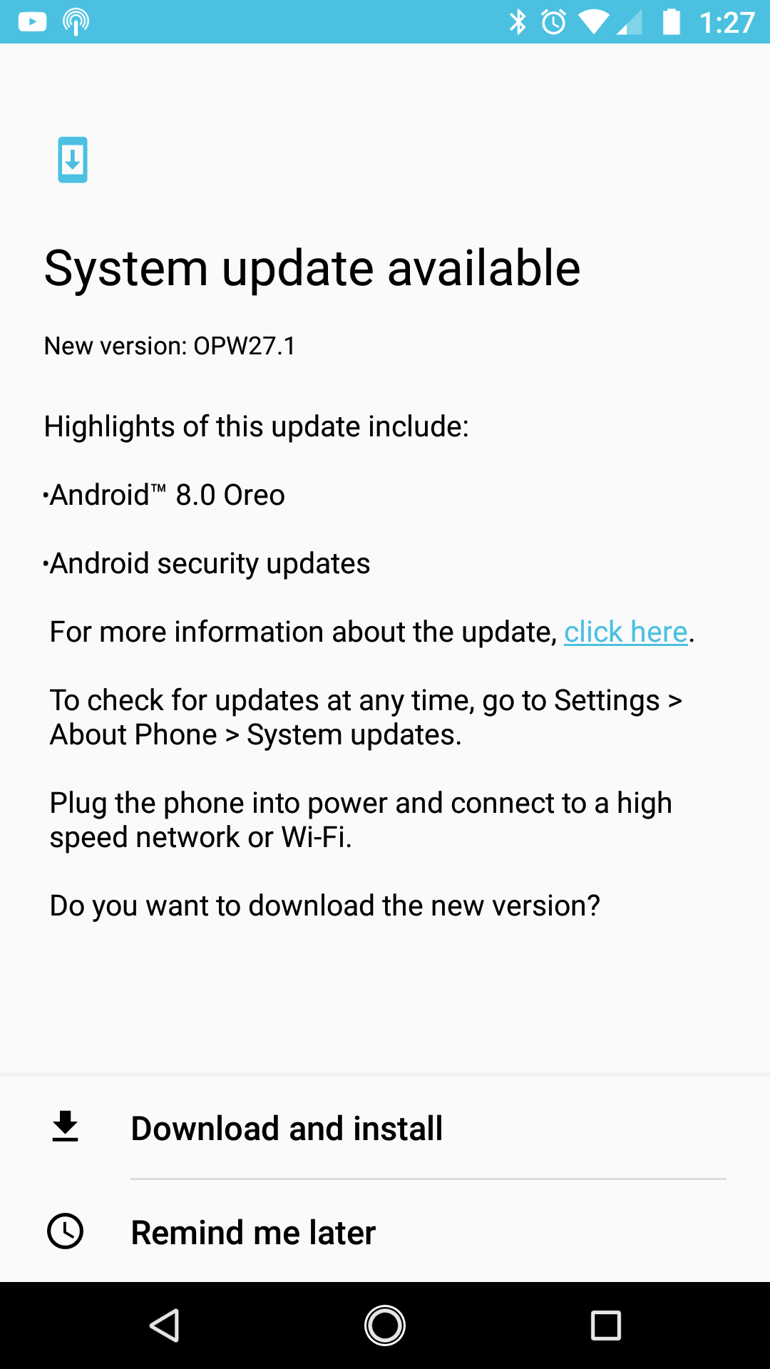 moto x4 android one android 8.0 oreo update
