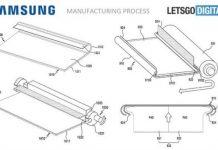 Samsung smartphone display arrotolabile