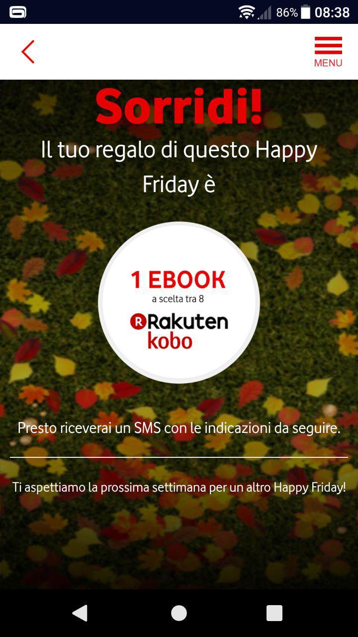 vodafone happy friday ebook screen