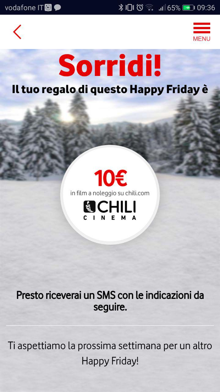 vodafone happy friday film su chili screen