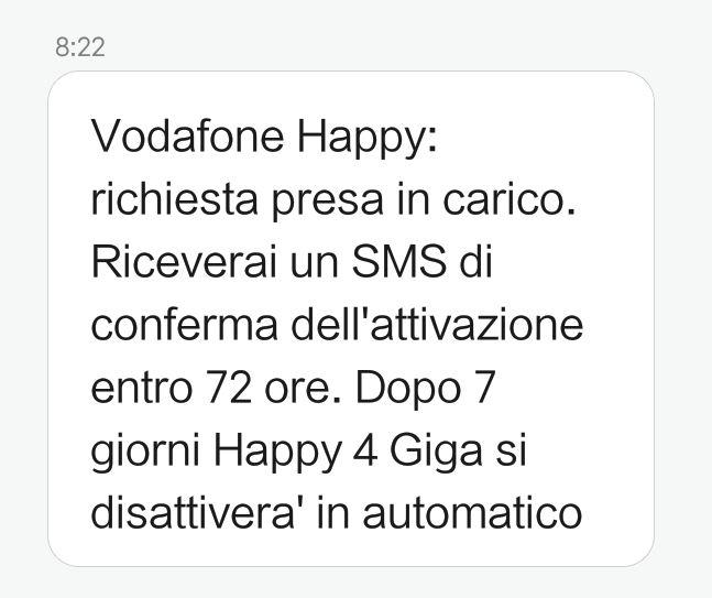 vodafone happy friday happy 4 giga sms
