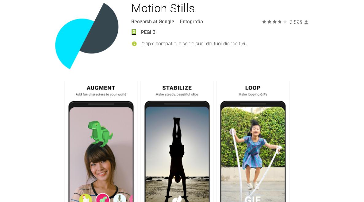 google motion stills stickers ar