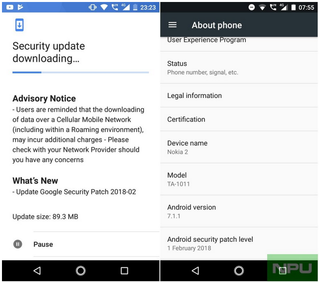 Nokia-2-aggiornamento-patch di sicurezza-febbraio-2018