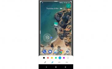google android p screenshot markup
