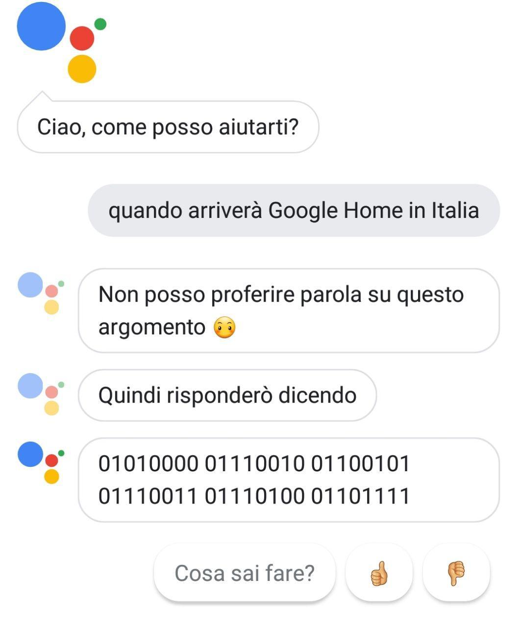 google home in italia