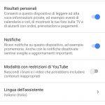 Actualización de Google Home en italiano