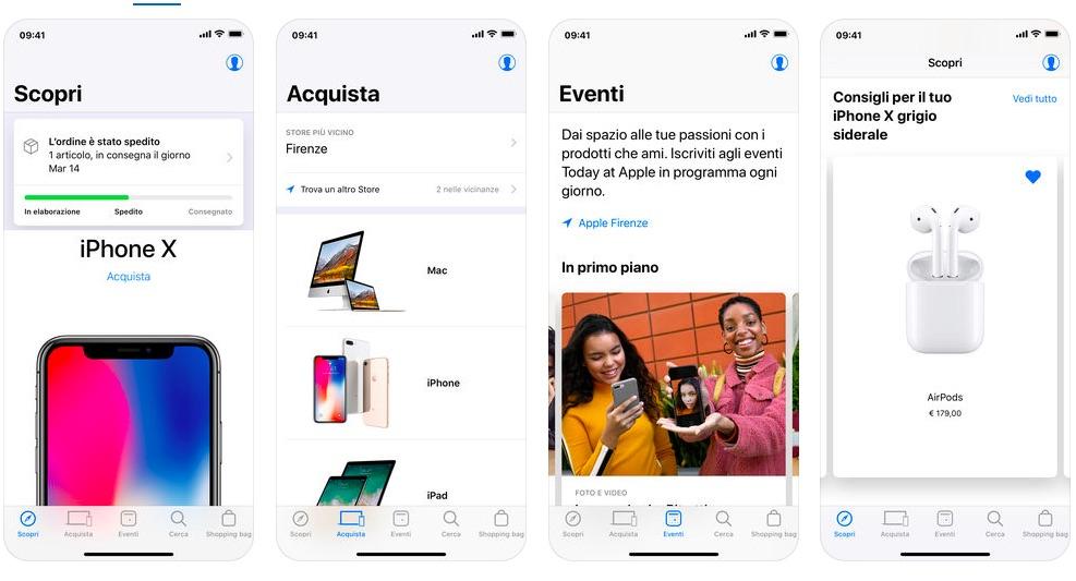 app apple store aggiornamento versione 5.0
