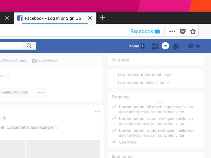 Contenedor de Facebook Firefox