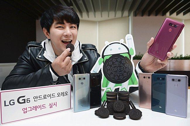 LG G6 actualización de Android Oreo