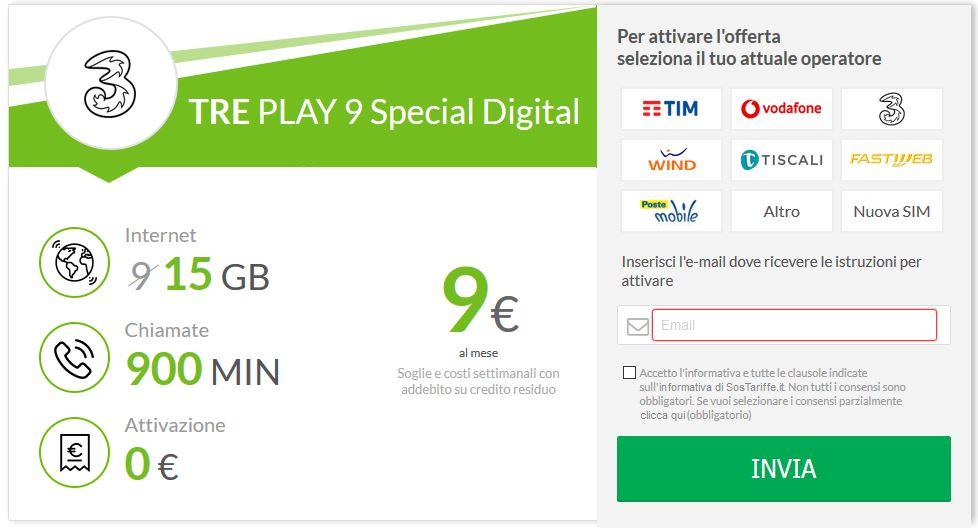 tre play 9 special digital
