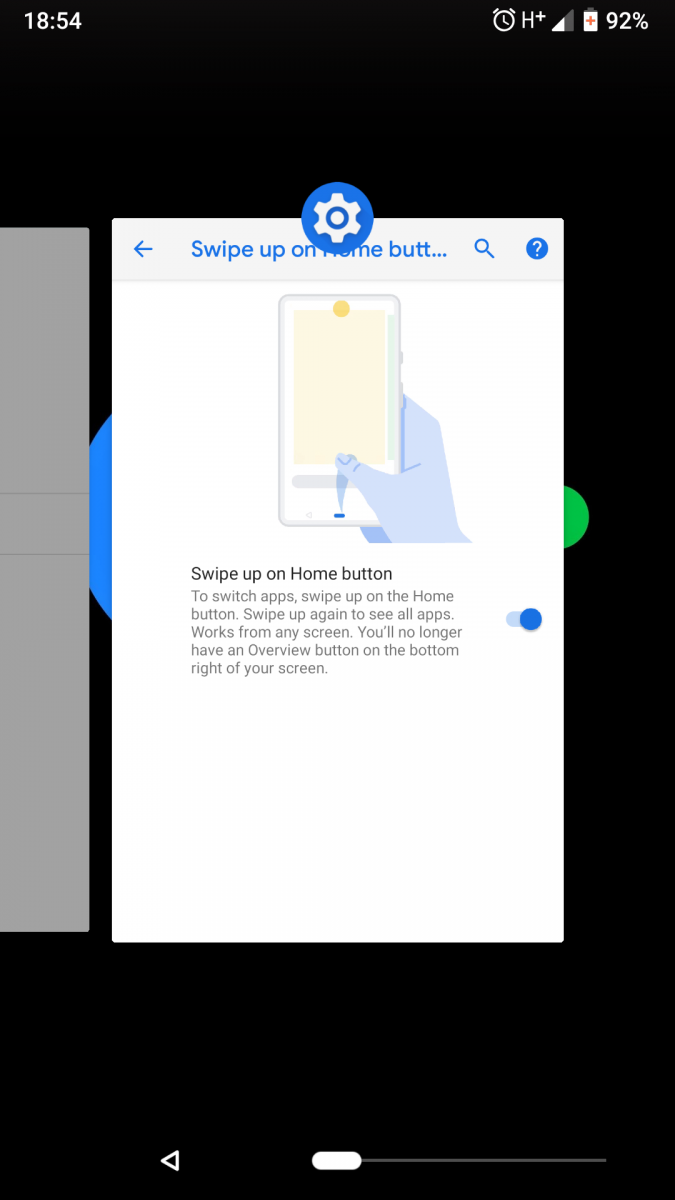 android P gesture