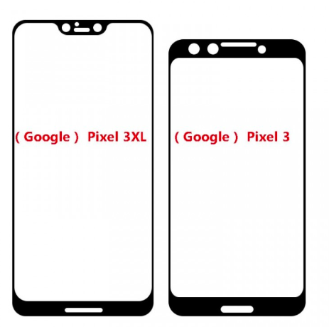 google pixel 3 e 3 xl display