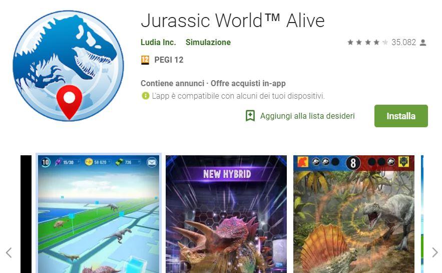 jurassic world alive banner