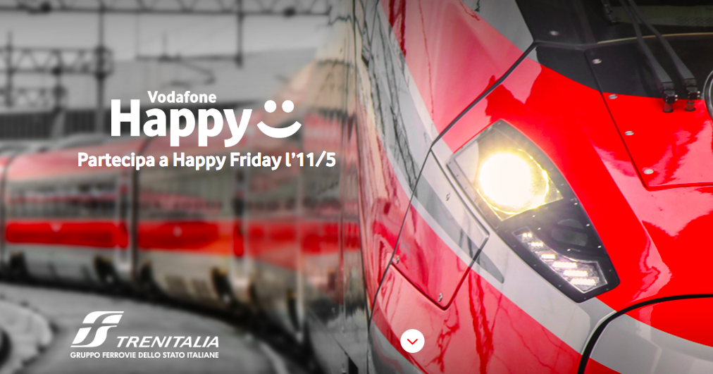 vodafone happy friday trenitalia 11 maggio