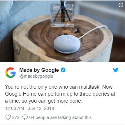 google home aggiornamento
