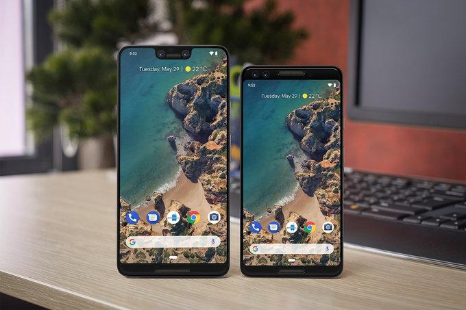 google pixel 3 xl design frontale