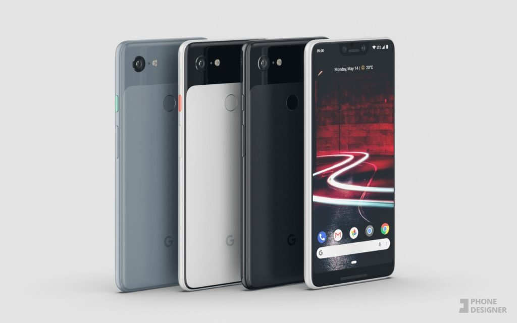 google pixel 3 xl concept render