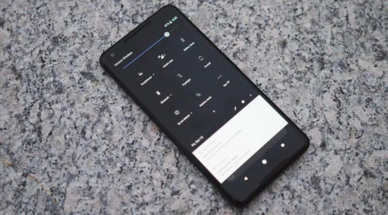 pixel launcher tema dark