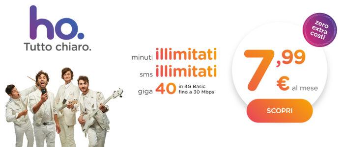 ho mobile offerta 7.99 euro