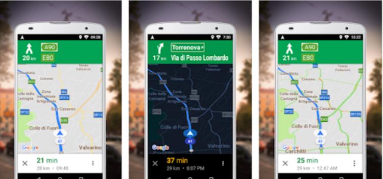 Navegador para o Google Maps GO