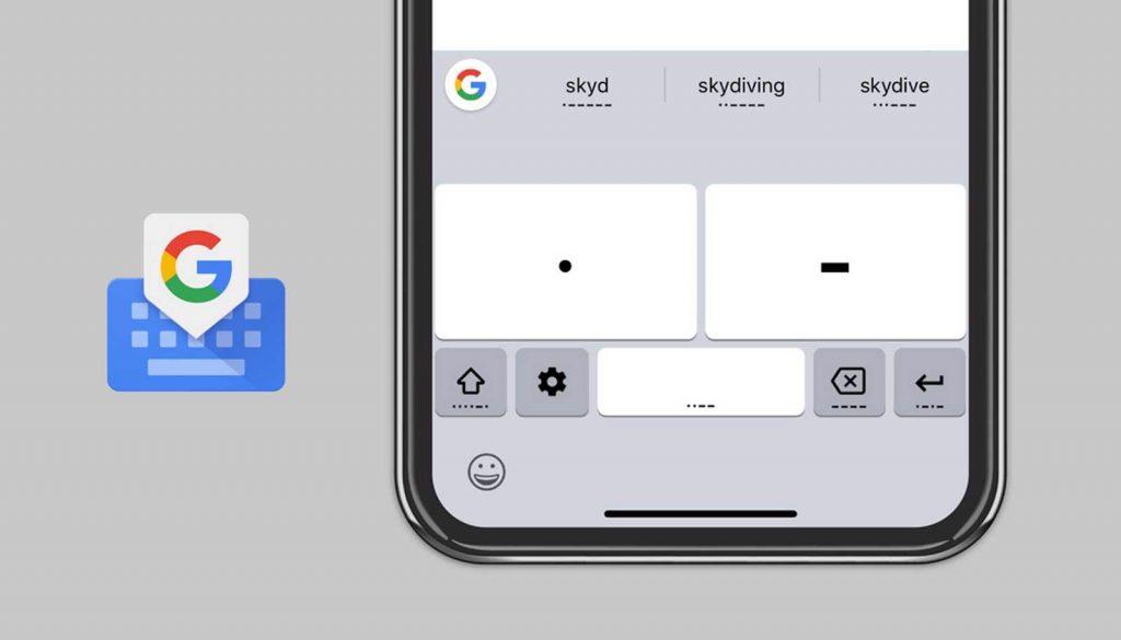 google gboard ios codice morse