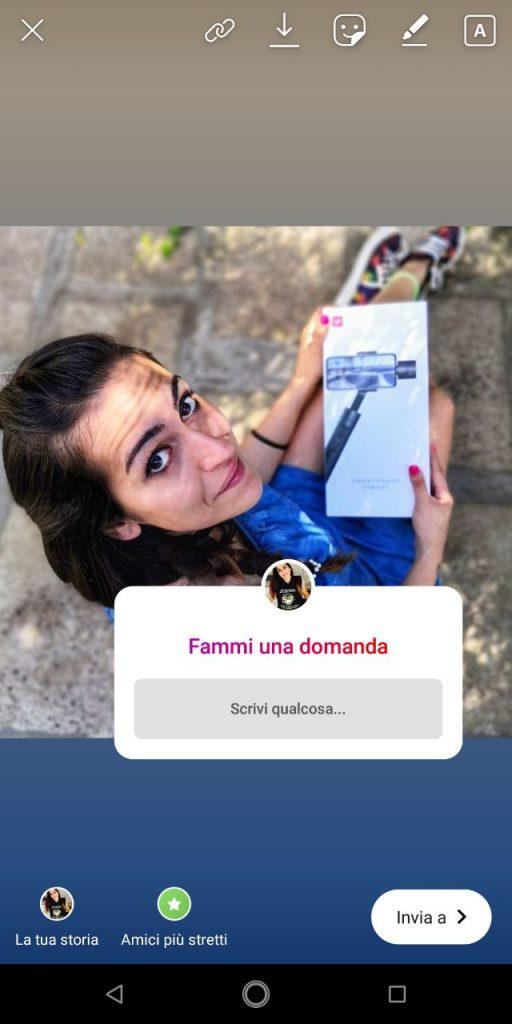 instagram stories domande dei follower