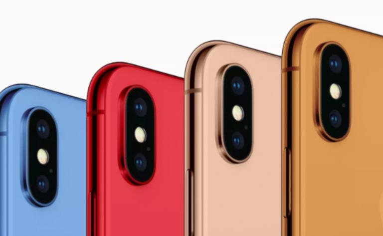 apple iphone 2018 colorazioni