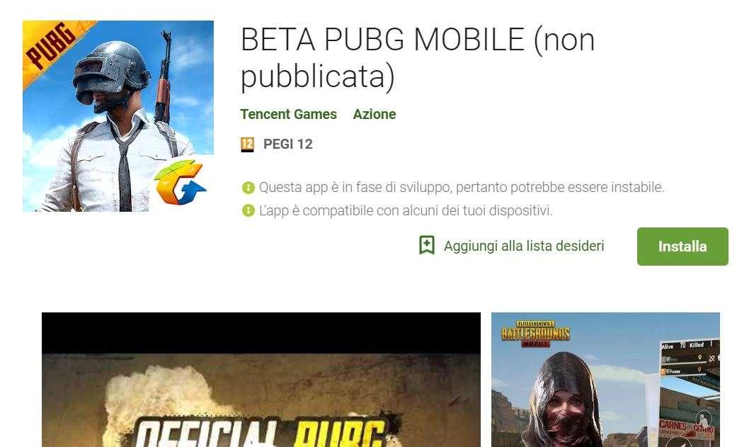 Pubg Mobile On The App Store: PUBG Mobile Beta Sbarca Nel Play Store