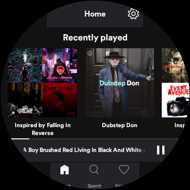 spotify lite su android wear