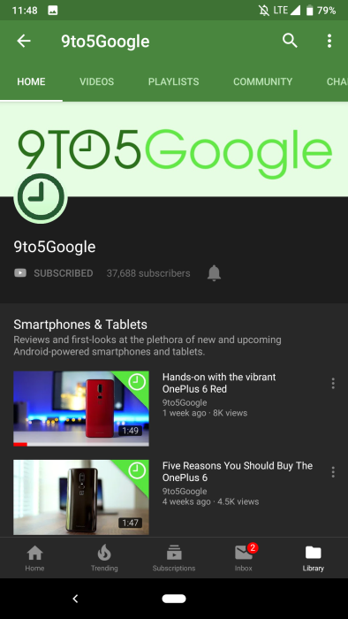 tema escuro do youtube