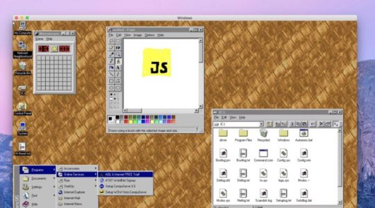 Aplicativo Windows 95 MacOS Linux 1