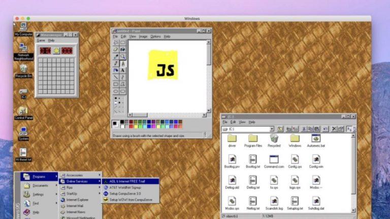 Aplicación Windows 95 MacOS Linux 1