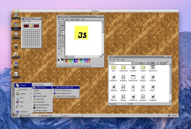 Windows 95应用程序MacOS Linux