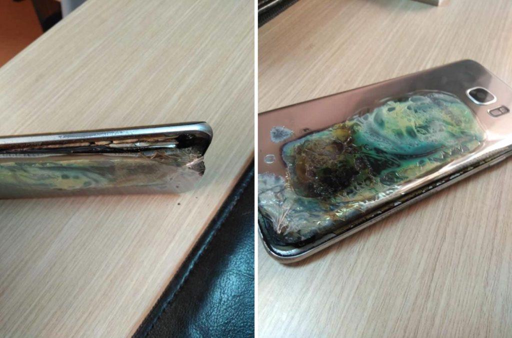 Samsung S7 edge scoppio 1