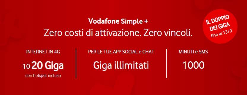 Vodafone Simple Minuti Sms 20 Gb E Pass Social Chat Gizblog