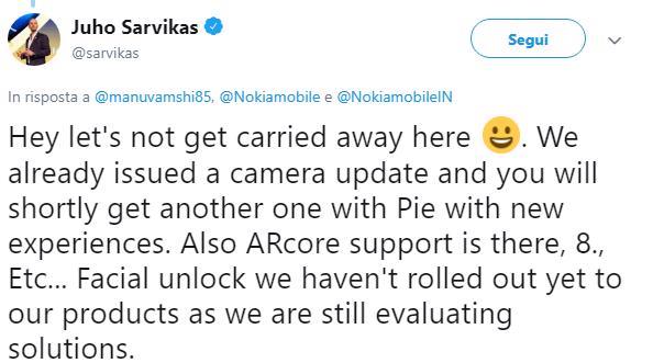 nokia 8 android 9 pie face unlock