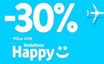 vodafone happy friday Alitalia