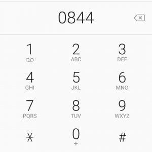 0844 call center