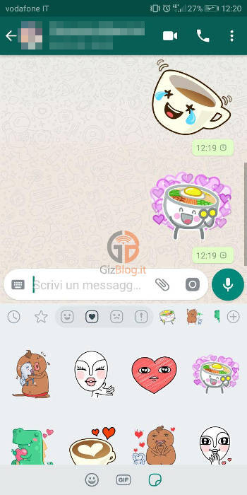 come attivare stickers whatsapp android
