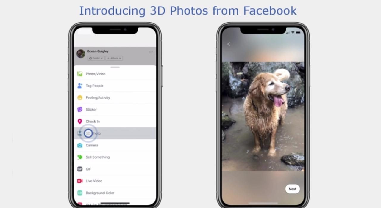 Facebook Foto 3D iPhone