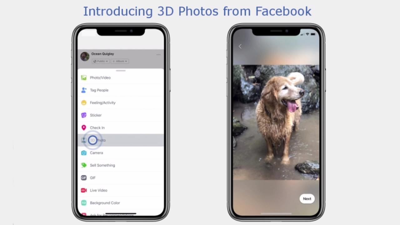 Facebook Photos 3D iPhone