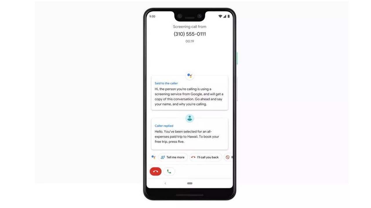 google pixel 3 call screen