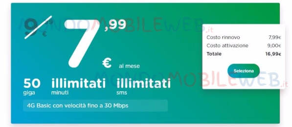 ho mobile 50 gb offerta