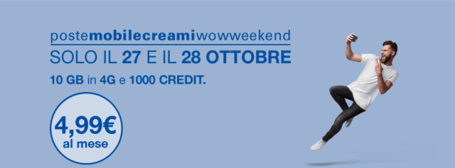 poste mobile creami wow weekend