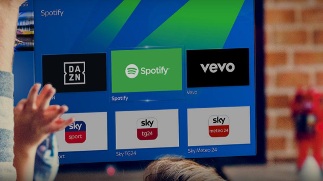 Spotify and DAZN will arrive in October on the Sky Q - GizBlog decoder