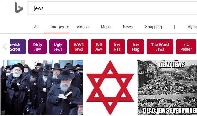bing razzismo antisemitismo yahoo