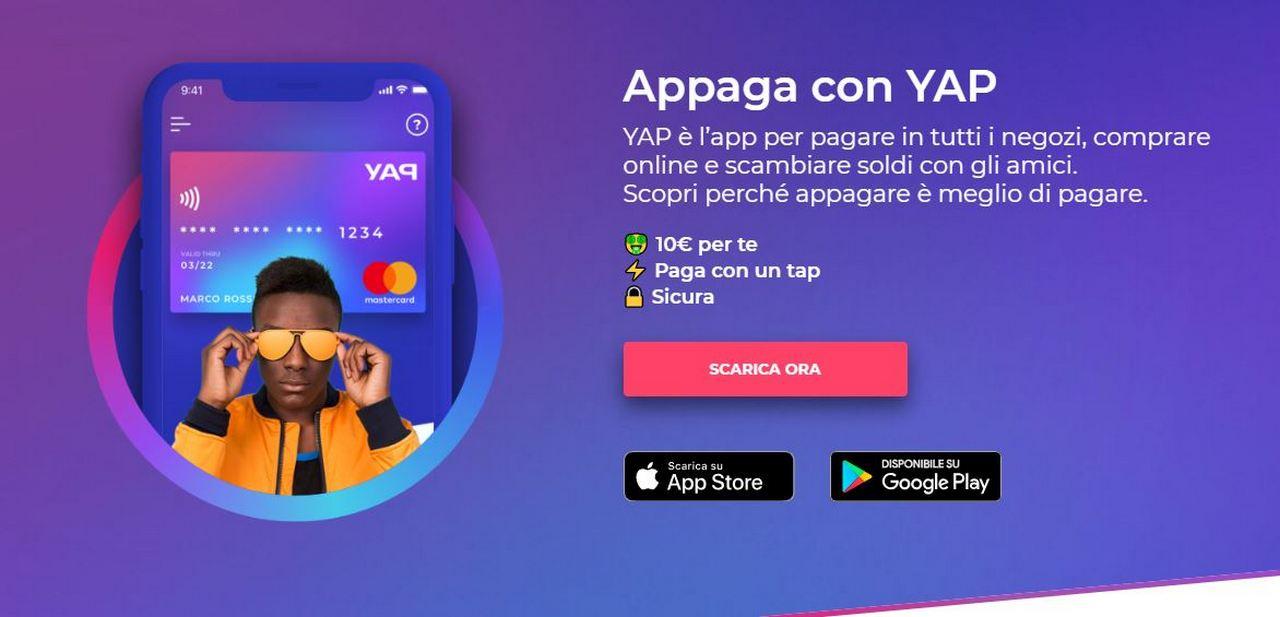 8a584b8b779216 YAP sfida Hype | 10€ gratis | NFC | IBAN | Invita un amico - GizBlog