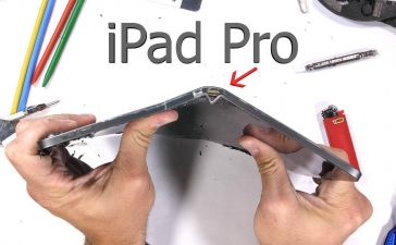 apple ipad pro 2018 bending test jerryrigeverything