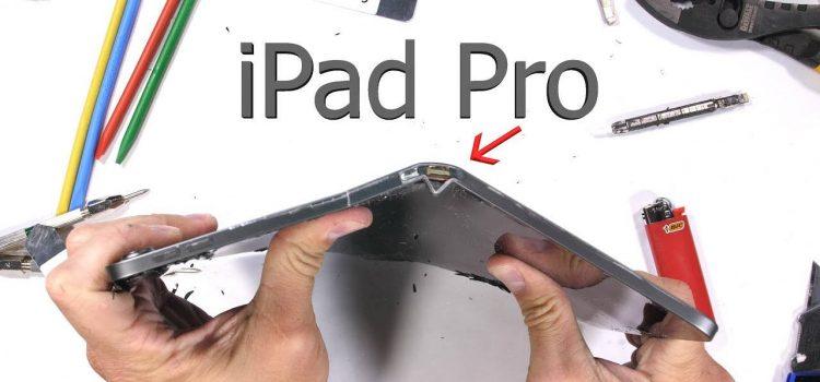 apple ipad pro 2018 bending test jerryrigeverything